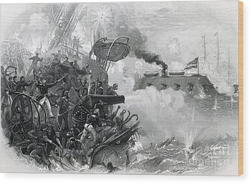 The Sinking Of The Cumberland, 1862 Wood Print by Photo Researchers
