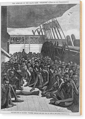 The Slave Deck Of The Ship Wildfire Wood Print by Everett