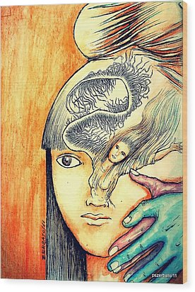 The Soul Is The Beginning And End Of Any Knowledge Wood Print by Paulo Zerbato