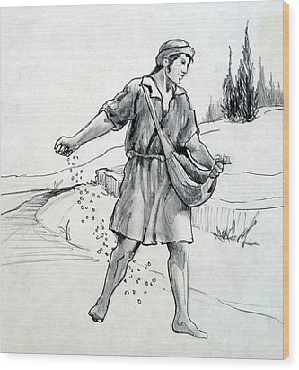The Sower Wood Print by Ron Cantrell