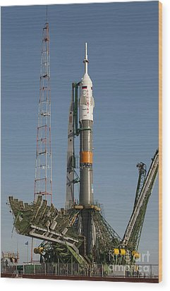 The Soyuz Rocket Shortly After Arrival Wood Print by Stocktrek Images
