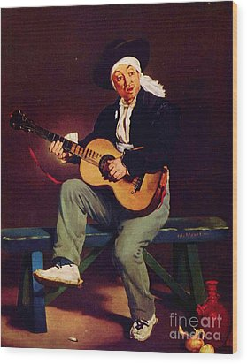 The Spanish Singer Wood Print by Pg Reproductions
