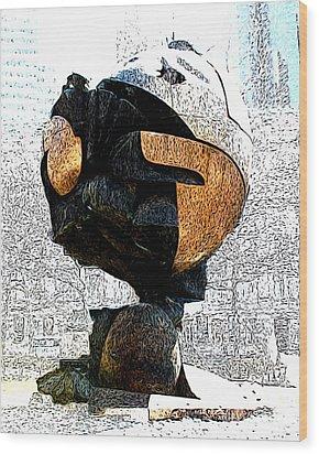 The Sphere Wood Print by Anne Raczkowski