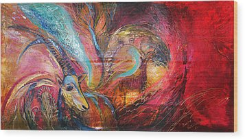 The Spirit Of Ein Gedi Wood Print by Elena Kotliarker