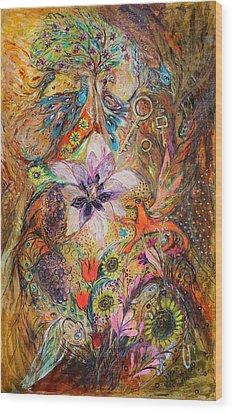 The Spirit Of Garden Wood Print by Elena Kotliarker