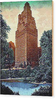 The St. Moritz Hotel In New York City In The 1930's Wood Print