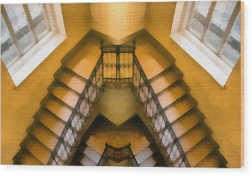 The Staircase Reflection Wood Print by Odon Czintos