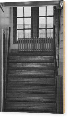 The Stairway Wood Print by Rob Hans