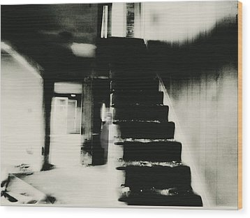 The Stairway Wood Print by Trish Clark