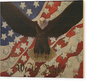 The Stars Of America Wood Print by Ruth Ann Murdock