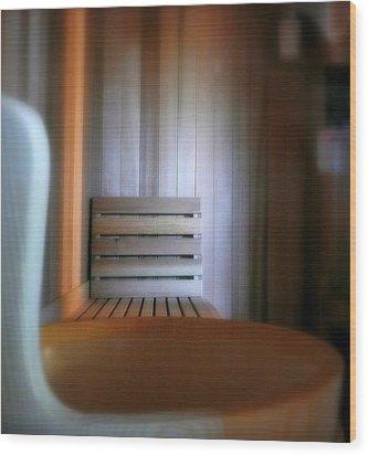 The Steam Room Wood Print by Lori Seaman