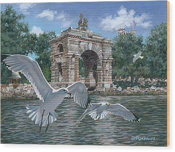 The Stone Arch Wood Print by Richard De Wolfe