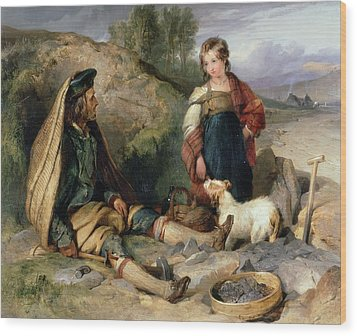 The Stone Breaker And His Daughter Wood Print by Sir Edwin Landseer