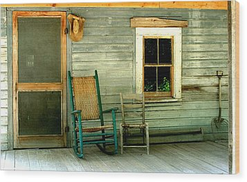 Wood Print featuring the photograph The Stories They Could Tell by Myrna Bradshaw