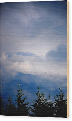 The Storms Brewing  Wood Print