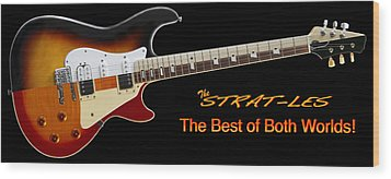 The Strat Les Guitar Wood Print by Mike McGlothlen