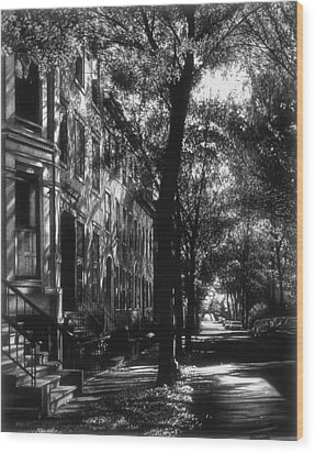 The Street Wood Print by Jerry Winick