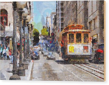 The Streets Of San Francisco . 7d7263 Wood Print by Wingsdomain Art and Photography