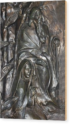 The Submission At Nativity Church Wood Print by Munir Alawi