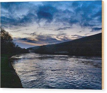The Suir Ireland. Wood Print by Debra Collins