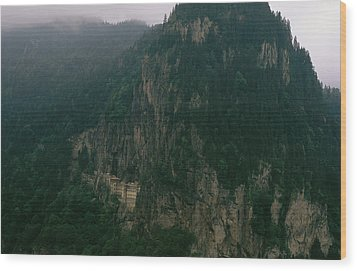 The Sumela Monastery Clings To Mountain Wood Print by Randy Olson
