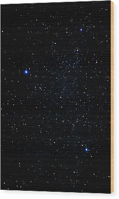 The Summer Triangle: Cygnus, Lyra And Aquila Wood Print by John Sanford