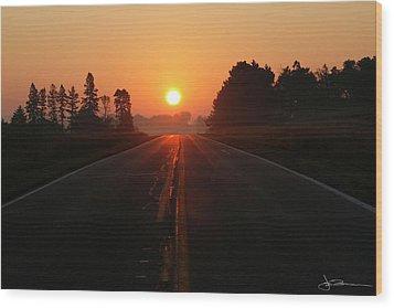 The Sun Road Wood Print