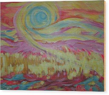 The Sun's Love Wood Print
