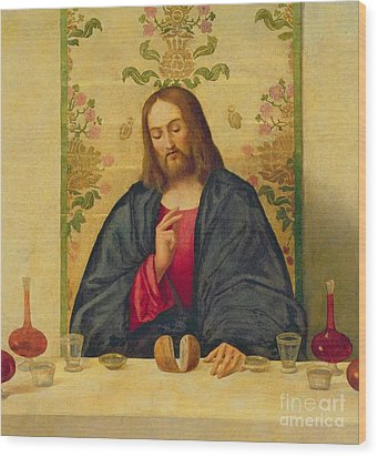 The Supper At Emmaus Wood Print by Vincenzo di Biaio Catena