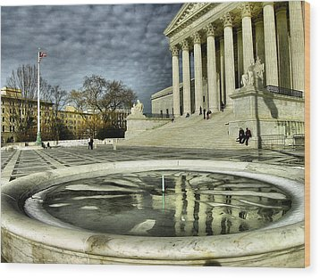 The Supreme Court And Plaza Wood Print