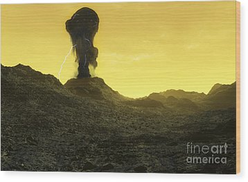 The Surface Of An Infernal Planet Wood Print by Fahad Sulehria