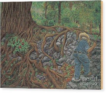 The Sweeper Wood Print by Jim Barber Hove