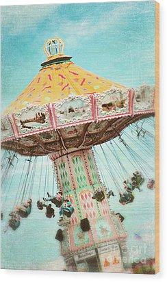 The Swings 2 Wood Print by Sylvia Cook