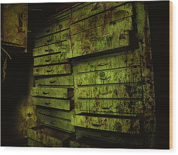 The System Wood Print by Jessica Brawley