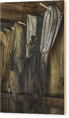 The Tack Room Wall Wood Print by Lynn Palmer