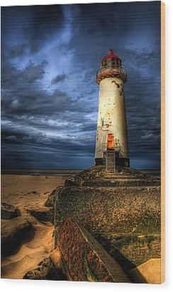 The Talacre Lighthouse Wood Print by Adrian Evans