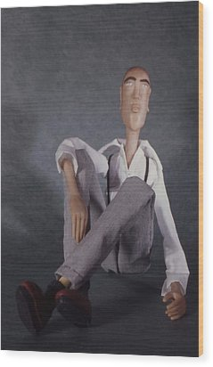 The Tall Guy Wood Print by Catherine Carr