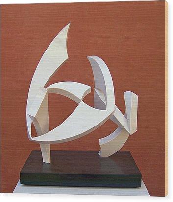 The Taming Of Pegasus  Wood Print by John Neumann