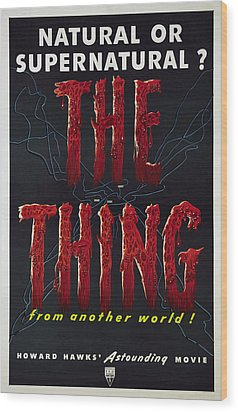 The Thing Aka The Thing From Another Wood Print by Everett