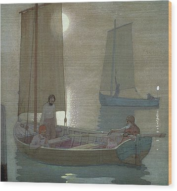 The Three Brothers Wood Print by Frederick Cayley Robinson