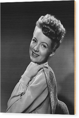 The Thrill Of Brazil, Evelyn Keyes, 1946 Wood Print by Everett
