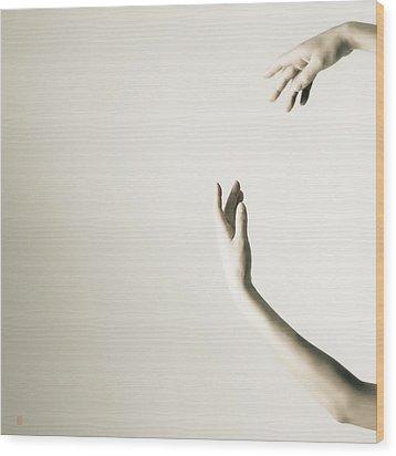 The Tilt Hands Wood Print by Nikolay Krusser