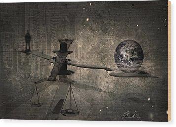 The Time Wood Print by Svetlana Sewell
