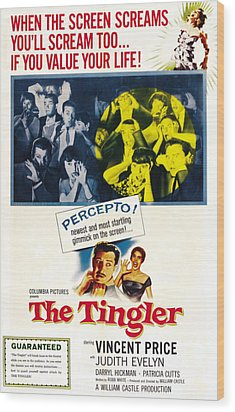 The Tingler, Bottom Vincent Price Wood Print by Everett