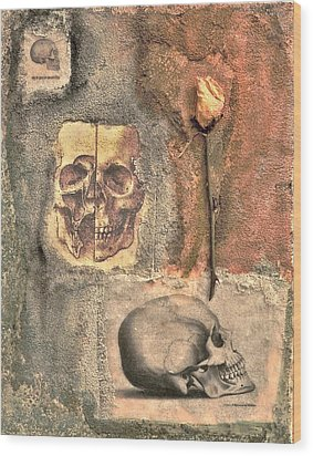 The Tomb Wood Print by Catherine Conroy