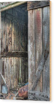 The Tool Shed Wood Print by JC Findley
