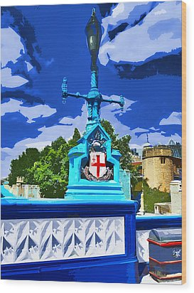 The Tower Lamp Post Wood Print by Steve Taylor