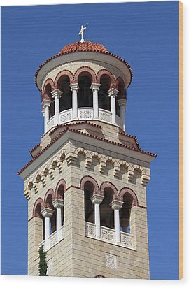 The Tower Of Saint Nectarios Wood Print