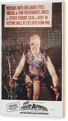 The Toxic Avenger, Mitch Cohen, 1985 Wood Print by Everett