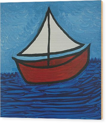 The Toy Boat Wood Print by Gregory Young